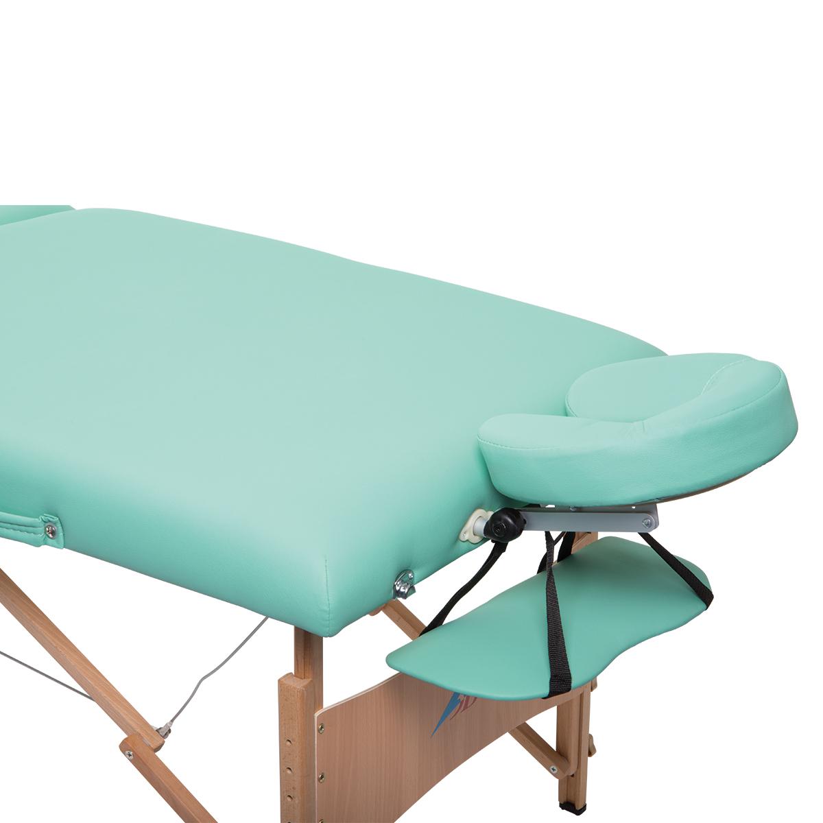 tragbare komfort massageliege aus holz gr n 1013728 w60613 massageliegen 3b scientific. Black Bedroom Furniture Sets. Home Design Ideas