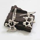 W99588E: Theobromine (Chocolate) Molecular Jewelry - Earrings